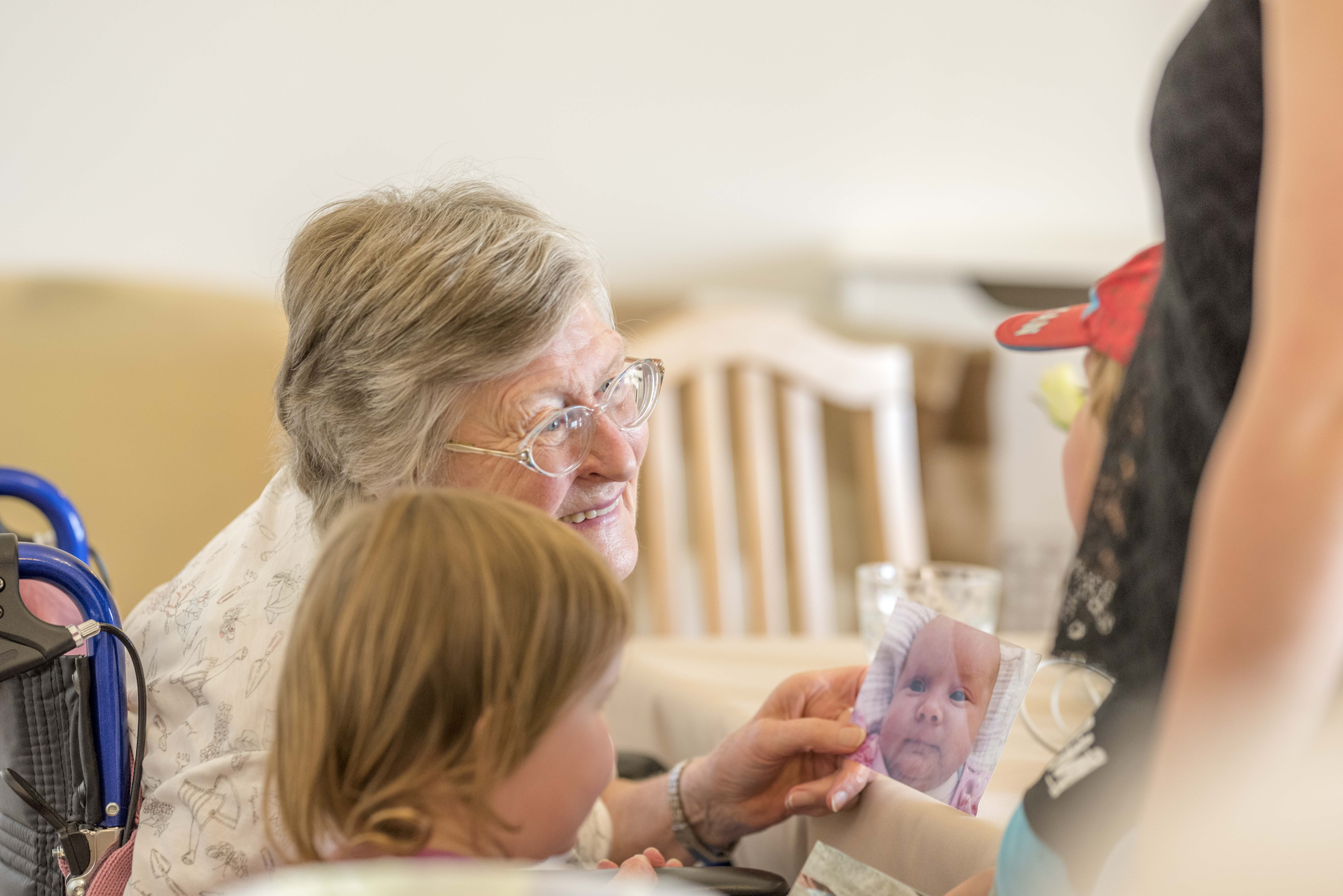 Young and Old enjoy our Intergenerational Tea Party